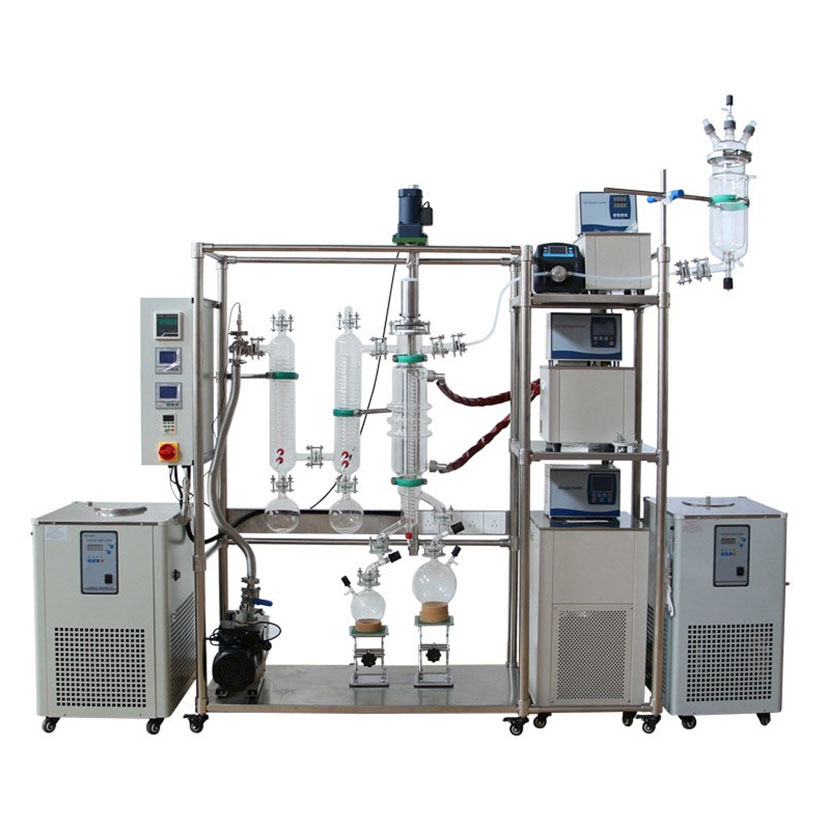 Short Path Glass Wiped Film Evaporator CBD Molecular Distillation Machine
