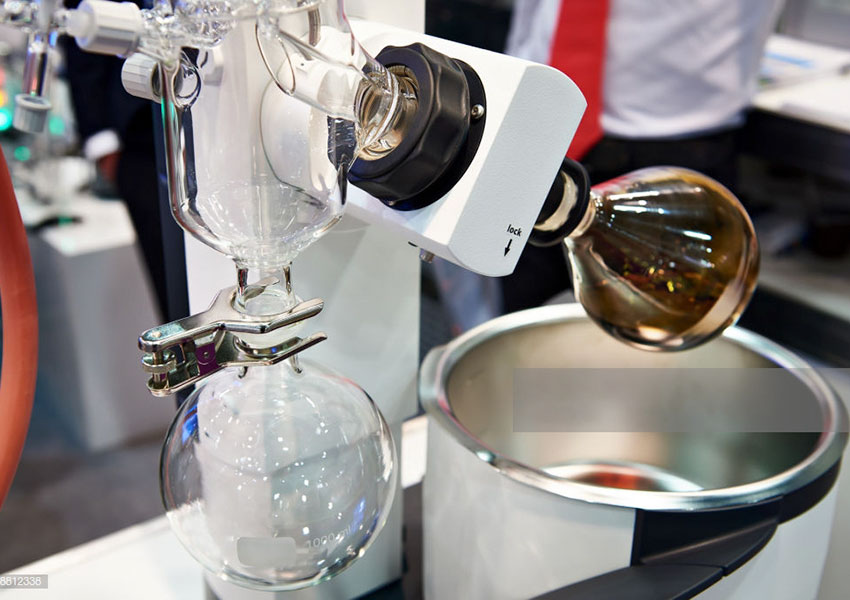 How to clean the glassware of rotary evaporator