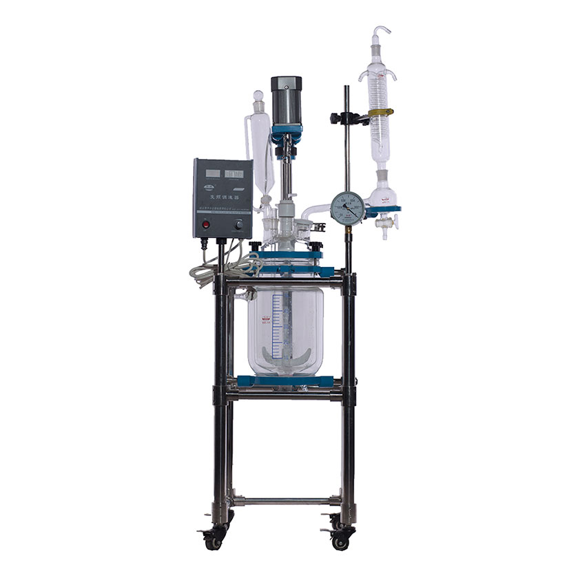 Glass jacketed reactor 10L