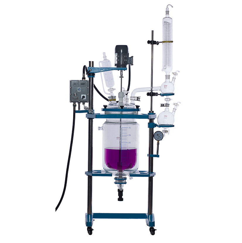 Glass reactor vessel 20L