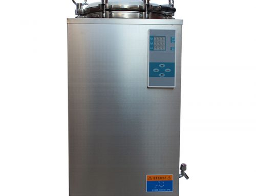 Vertical autoclave machine for microbiology laboratory